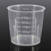 Dealglad® New 10PCS 30ml 1oz Plastic Transparent Measure Graduate Measuring Medicine Cups