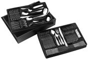 Pradel Excellence D570C 84-piece Miroir Cutlery Set in a Wooden Box with a Drawer