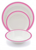 Harfield New Duo Polycarbonate Plastic Dining Set Dark Pink
