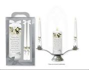 Wedding Candle - Wedding Gifts - Congratulations On Your Wedding + Lourdes Prayer Card
