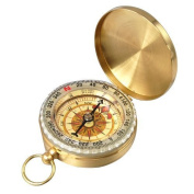 Aussel Traditional Outdoor Classic Brass Pocket Watch Style Compass for Camping / Hiking / Travelling