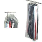 """Hangerworld Pack of 50 Clear Polythene Garment Covers - 48"""" (122cm) - Ideal for Trousers, Shirts, Skirts etc."""
