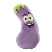 Plush Doll for Kids Happy Aubergine Plush Toy Cute Stuffed Eggplant Purple