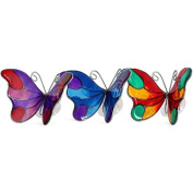 Multi Coloured Stained Glass Effect Butterfly Suncatcher Window Sticker Decoration With Suction Cup