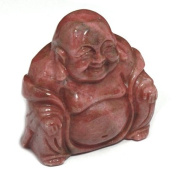 Rhodonite Carved Sitting Buddha Statue