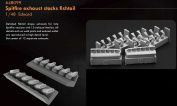 Eduard Brassin 1:48 - Spitfire Exhaust Stacks Fishtail (Eduard) -