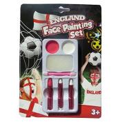 England Face Painting Set - Paints / Crayons / Applicator & Sponge
