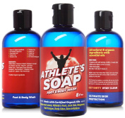 Athletes Soap - #1 ALL NATURAL Antifungal Defence Soap With 100% GUARANTEE. Helps Wash Away Jock Itch, Athletes Foot, Toenail Fungus, Body Odour, Ringworm Treatment. Tea Tree & Certified Organic Oils!
