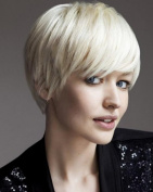 New Style Fashion Short and Sassy Women Creamy White Wig