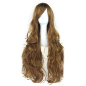 Novia's Choice New 70cm Long Curly Wavy Cosplay Hair Halloween Party Wig Plus Wig Cap