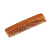 HealthAndYoga(TM) Handcrafted Neem Wood Comb - Anti Dandruff, Non-Static and Eco-friendly- Great for Scalp and Hair health -18cm Coarse-Fine Combo toothed