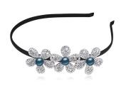 Women's Wedding Crystal Bridal Flower & Leaves Tiara Headdress Crown Headband Montana