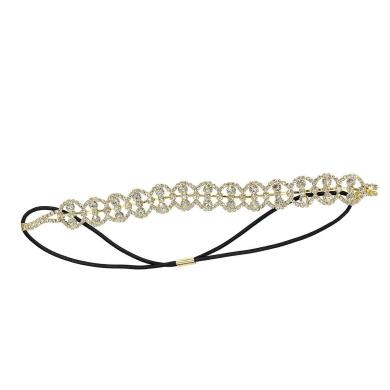 Crystal Loops Headwrap Headband, Gold