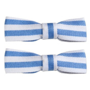 Hair Grip Blue & White (Light Blue & White Straps) Made With Cotton by JOE COOL