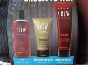 American Crew Grooming Kit Gift Set Firm Hold Gel Shave Cream 3 In 1