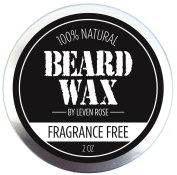 Leven Rose Beard & Moustache Wax - 100% NATURAL Men's Grooming Wax with Natural Oils - 60ml