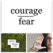 Tattify Courage Over Fear Temporary Tattoo - Go Boldly (Set of 2) - Other Styles Available - High Quality and Fashionable Temporary Tattoos - Tattoos that are Long Lasting and Waterproof