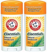 Arm & Hammer Essentials Natural Deodorant, Fresh - 70ml - 2 pk