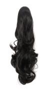 OneDor® 50cm Curly Synthetic Clip In Claw Drawstring Ponytail Hair Extension Synthetic Hairpiece 190g with a jaw/claw clip