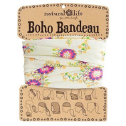 Natural Life Boho Bandeau Band, Cream/Pink Floral