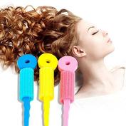 LKE® 5 Set (15 pcs) Colourful Soft Foam Sponge Wave Perm Hair Rollers Curler