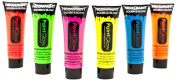 PaintGlow Neon UV Face & Body Paint Rave Festival Party 10ml Set of 6