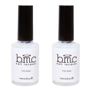BMC (2) 15ml Bottles of Nail Art Foil Strip Application Glue Set