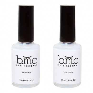 BMC (2) 15ml Bottles of Nail Art Foil Strip Application Glue Set