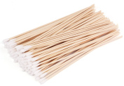 Foraineam 300 Pack 15cm Sterilised Cotton Swabs with Wooden Handles