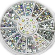 Banggood Professional Acrylic Glitter 3D Nail Art Decoration+Wheel Use On Top Of Nail Polish
