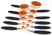 BeautyKate 10 Pcs Professional Oval Makeup Brushes Set Toothbrush Face Cosmetic Tool Cream Powder Blush Liquid Foundation