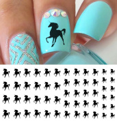 Black Unicorn Water Slide Nail Art Decals- Salon Quality!