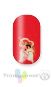 Minx Nails Christmas Angels on Red Nail Decals Transparent