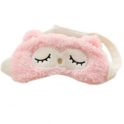 Ayygiftideas Unique Owl Sleeping Eye Mask Travel Eye Cover Hot Cold Therapy Eye Spa