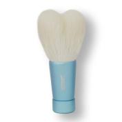 Takumi of makeup brushes Kosumedo Kumano brush heart-shaped facial cleansing brush M size blue full-length 80mm