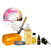 Dinair Airbrush Sunless Tanning Set Quick & Easy Summer Time Tan Kit | Dark Solution