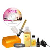 Dinair Airbrush Sunless Tanning Set Quick & Easy Summer Time Tan Kit | Light Solution