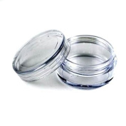 Onwon New 3 Gramme 3ML Size Empty Clear Plastic Cosmetic Containers Jars Pot For Eye shadow Makeup Nail Powder Etc