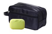 iSuperb® Toiletry Bag with Soap Box Travel Organiser Classy Waterproof Portable Wash Gym Shaving Bag for Men