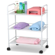 Topeakmart 3 Shelf Large Salon Beauty Trolley Cart Spa Storage Dentist Wax Treatments