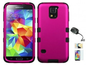 Galaxy S5 Case, [Ultra Fit] [Smooth Texture] Premium Protection Momiji® (Screen Protector, Cleaning Cloth, Travel Charger) Non-Slip Matte Hard Case for Galaxy S5 - Pink