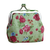 Lady Purse, TOOPOOT Women Vintage Flower Small Wallet Hasp Purse Clutch Bag