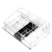 Indoorcy® Potable Acrylic Clear Large Makeup Beauty Organiser Storage DIY Jewellery Box Case
