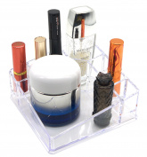 PuTwo Lipstick Holder 8 Sections Makeup Square Desk Organiser, 223 Gramme