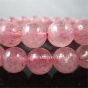 Luoyi 4mm Natural Strawberry Quartz Beads Strand, Round