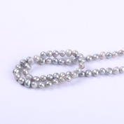 White Round Irregular Natural Freshwater Pearl Loose Beads For Jewellery Making