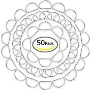 eBoot 50 Pack Metal D Ring, 2.5cm
