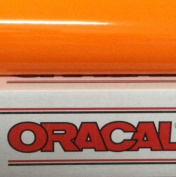 30cm x 4.6m Roll of Glossy Oracal 651 Orange Permanent Adhesive-Backed Vinyl for Craft Cutters, Punches and Vinyl Sign Cutter