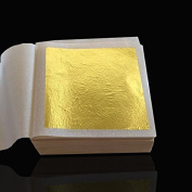 10 Sheets 4.33 X 4.33cm 24K Pure Genuine Facial Edible Gold Leaf Gilding Foil Sheet 99.99% Gold.