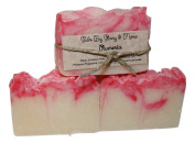 Suds By Stacy and More Plumeria Homemade Soap Bars (Three 120ml bars) cold processed with fragrance oils